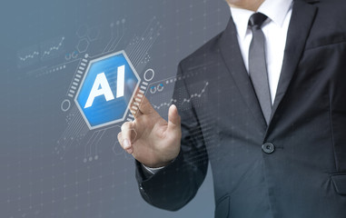 Business man select A.I. (Artificial Intelligence)
