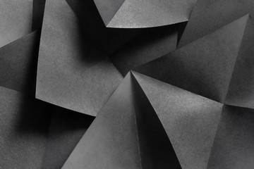 Abstract composition with geometric shapes of paper