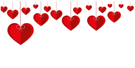 Romantic background with hearts. Valentine's Day.