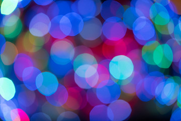 Most Colorful bokeh light background for your design. blur colorful bokeh defocused lights decoration.