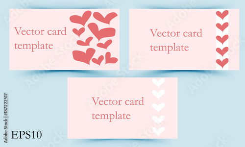 A Set Of Templates For Business Cards In The Fashion