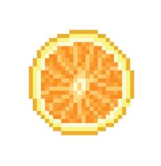 Orange pixel Icon, in the vector.