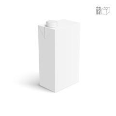 Juice and milk blank white carton box.