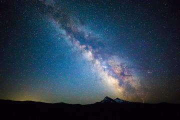 Milky Way above Three Sisters Mountains