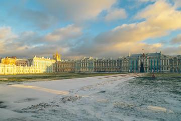 Catherine Palace in Pushkin in winter