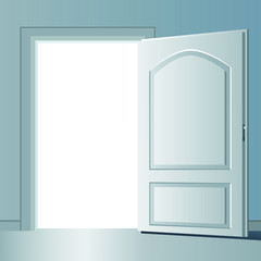 opened door vector design illustration