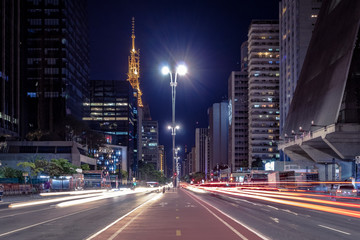 Paulista Avenue at night - Sao Paulo, Brazil