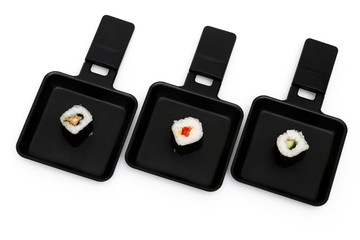 Sushi in pans