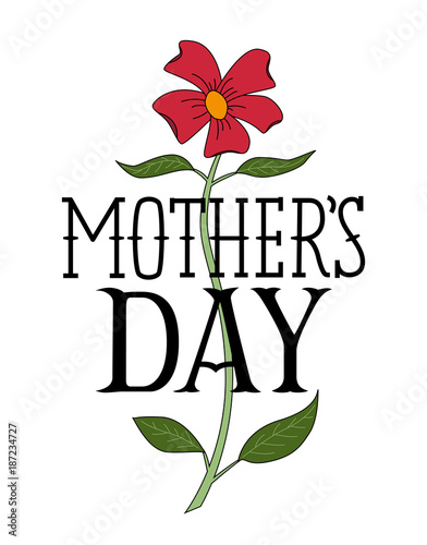 floral happy mothers day congratulatory template stock image and