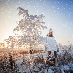 Woman at winter