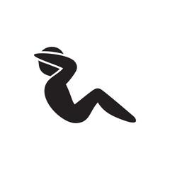 abdoninal workout icon illustration