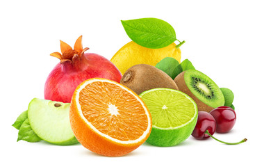 Photo Blinds Fruits Fruits isolated on white background