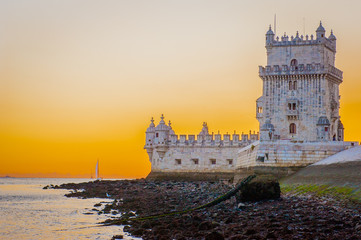 Belém Tower (Torre de Belém) or the Tower of St Vincent is a fortified tower located in the civil parish of Santa Maria de Belém in the municipality of Lisbon, Portugal.