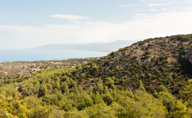 Wiew from hill at Akamas peninsula, Cyprus
