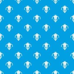 Machine robot pattern seamless blue