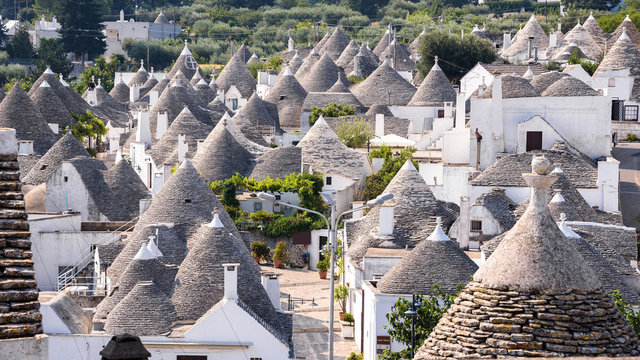 The roofs of famous Alberobello's trulli