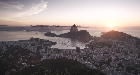 Wall Mural - Panorama of Rio de Janeiro city and Sugarloaf mountain, Brazil
