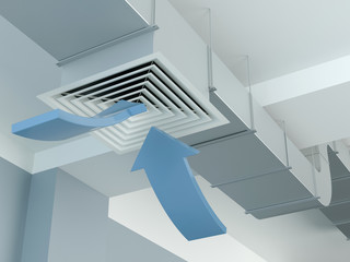 Industrial air duct ventilation - arrows
