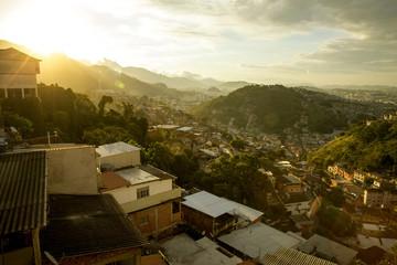Panorama of Favela in Rio de Janeiro, Brazil
