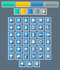 Flat Game Button Pack