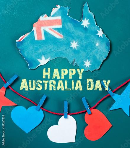Celebrate australia day holiday on january 26 with a happy australia celebrate australia day holiday on january 26 with a happy australia day message greeting written m4hsunfo