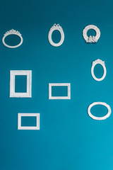 A lot of different Beautiful designer frame for your photo or text on a blue background