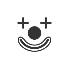 clown face icon. Amusement park element icon. Premium quality graphic design. Signs, outline symbols collection icon for websites, web design, mobile app, info graphics