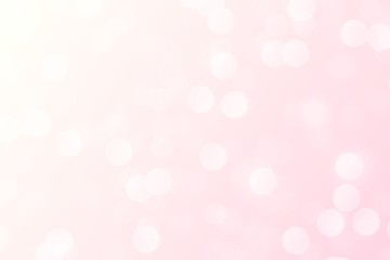 Abstract bokeh circle shiny light and soft pink background.