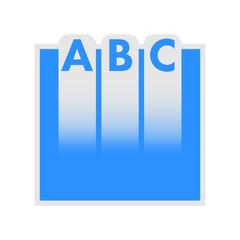 ABC education logo, minimal logo and design.
