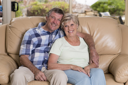 senior beautiful middle age couple around 70 years old smiling h