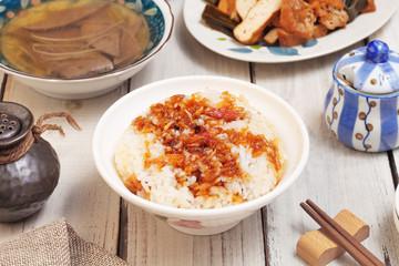 Lard rice is a popular food in Taiwan