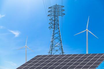 再生可能エネルギーと送電線