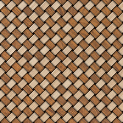 Wooden weave texture background. Abstract decorative wooden textured basket weaving background. Seamless pattern.
