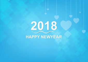 happy new year 2017 on creative blue background