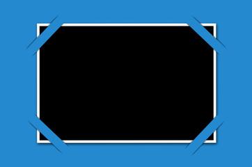 cadre photo sur fond bleu