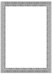 greek frame with meander