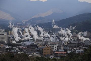 日本観光地・大分 別府温泉一望