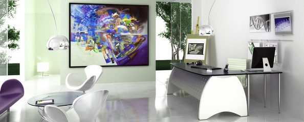 Modern Office Area (panoramisch)
