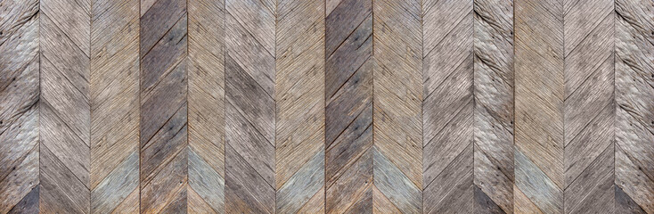 Dark brown rustic diagonal hard wood surface texture background,natural pattern backdrop,banner material for design. Wall mural