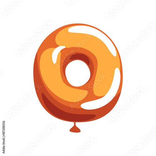 Orange letter o from english alphabet in shape of glossy balloon orange letter o from english alphabet in shape of glossy balloon cartoon font funny m4hsunfo