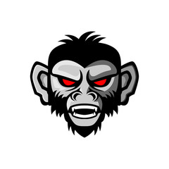 angry monkey vector illustration