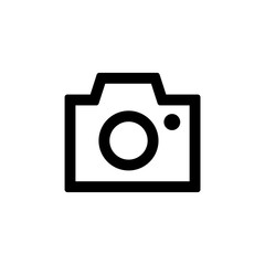 Camera icon for simple flat style ui design