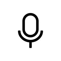 Microphone icon for simple flat style ui design