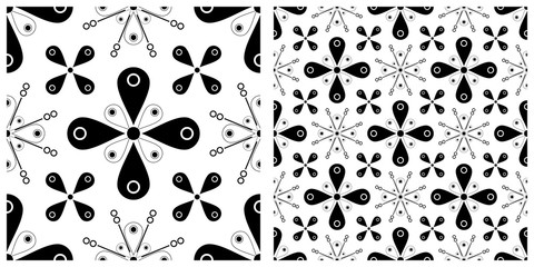 Seamless pattern in flat design of fireworks or vintage background.