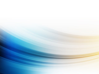 Vector Abstract Motion Blue and Yellow Wave Wallpaper Background