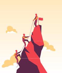 Venditori impegnati nella scalata al successo