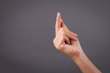 hand snapping finger studio isolated