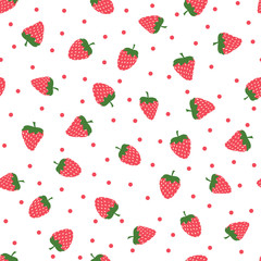 cute background with strawberries