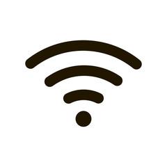 Wifi Icon Black. Vector icon. Wireless and wifi or sign for remote internet access. Podcast symbol.
