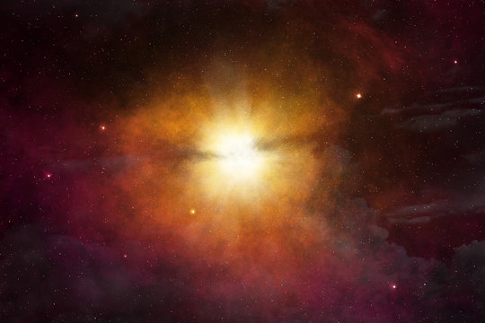 star light glowing in the outer space